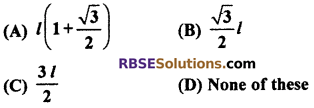 RBSE Solutions for Class 10 Maths Chapter 8 Height and Distance Additional Questions 19