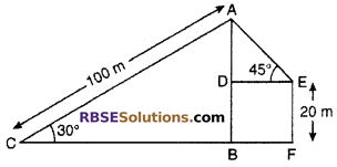 RBSE Solutions for Class 10 Maths Chapter 8 Height and Distance Additional Questions 65