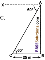 RBSE Solutions for Class 10 Maths Chapter 8 Height and Distance Additional Questions 27