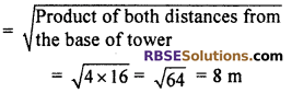 RBSE Solutions for Class 10 Maths Chapter 8 Height and Distance Additional Questions 8