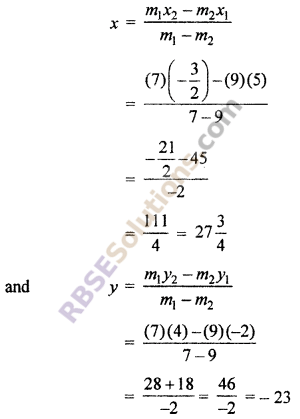 RBSE Solutions for Class 10 Maths Chapter 9 Co-ordinate Geometry Ex 9.2 2