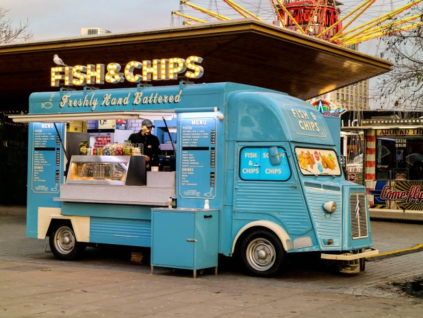 Puesto ambulante de Fish and Chips en Londres
