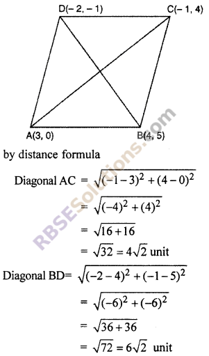 RBSE Solutions for Class 10 Maths Chapter 9 Co-ordinate Geometry Additional Questions 63
