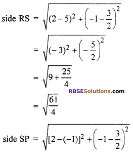 RBSE Solutions for Class 10 Maths Chapter 9 Co-ordinate Geometry Additional Questions 50