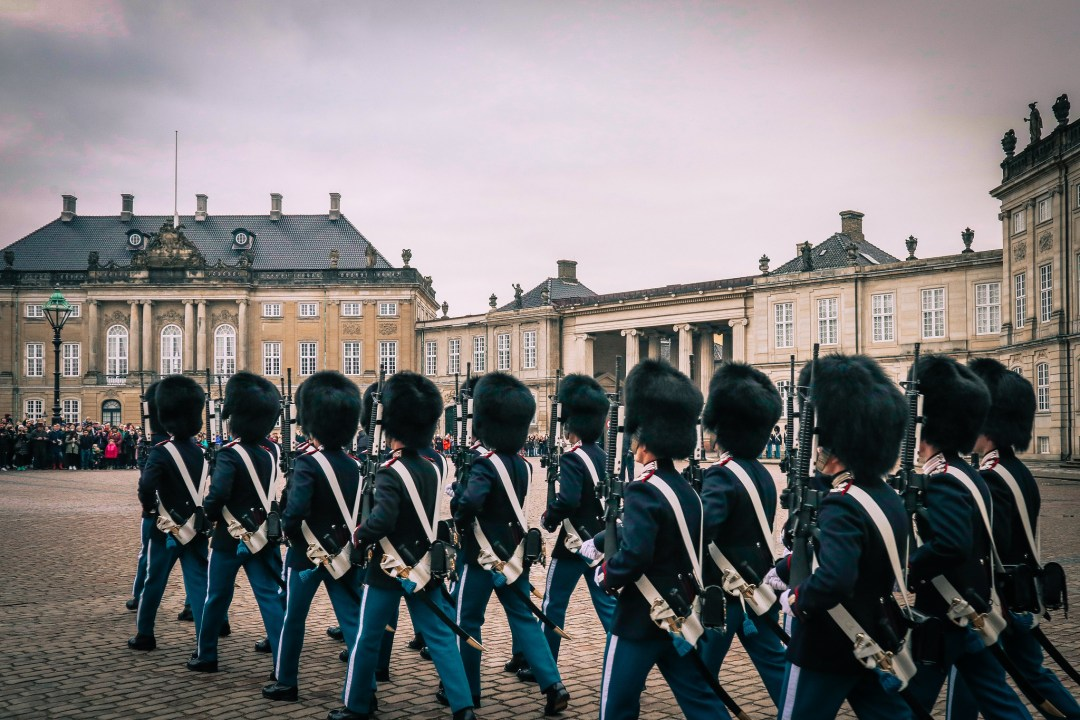 Amalienborg palace, changing of the guard