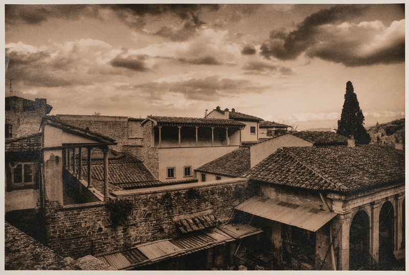 Roofs and Courtyards, Florence. Lith Print version.