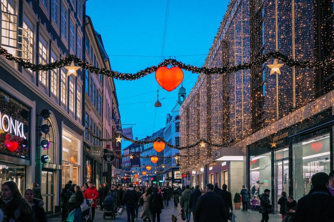 Strøget, the shopping street of Copenhagen