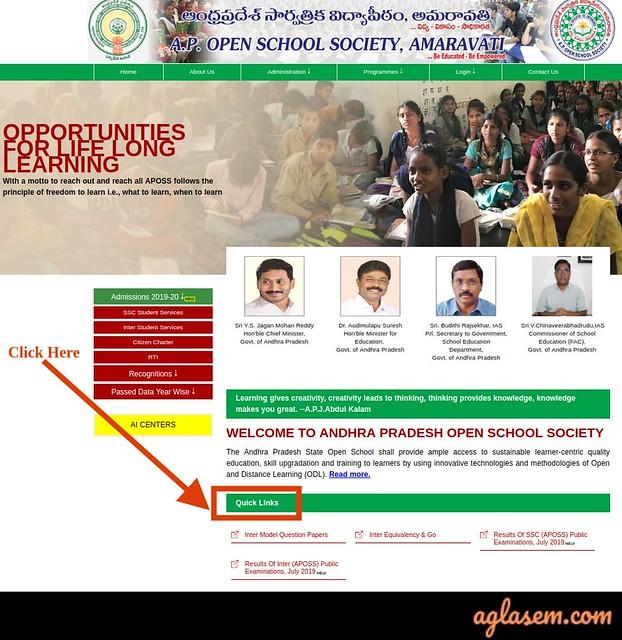 APOSS Intermediate Hall Ticket April 2020