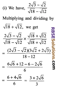 RBSE Solutions for Class 9 Maths Chapter 2 Number System Additional Questions 21