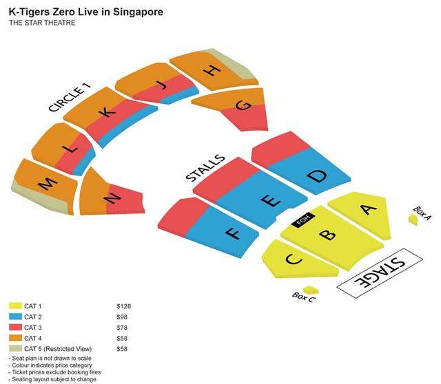 K-Tigers Zero Live in Singapore Seating Plan