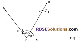 RBSE Solutions for Class 9 Maths Chapter 5 Plane Geometry and Line and Angle Ex 5.3 2