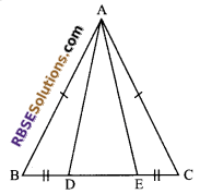 RBSE Solutions for Class 9 Maths Chapter 7 Congruence and Inequalities of Triangles Additional Questions 12