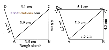 RBSE Solutions for Class 9 Maths Chapter 9 Quadrilaterals Ex 9.3 1