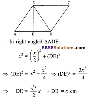 RBSE Solutions for Class 9 Maths Chapter 9 Quadrilaterals Ex 9.2 3
