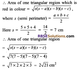RBSE Solutions for Class 9 Maths Chapter 11 Area of Plane Figures Additional Questions 23