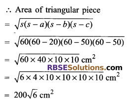 RBSE Solutions for Class 9 Maths Chapter 11 Area of Plane Figures Miscellaneous Exercise 9