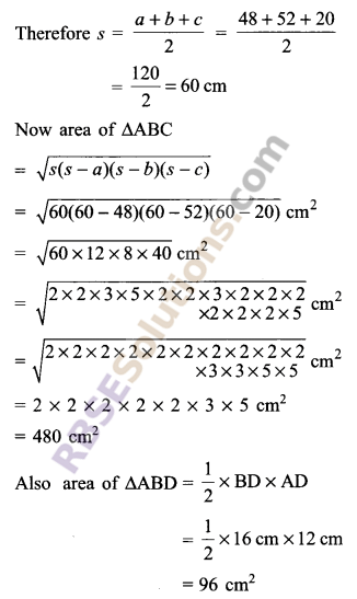 RBSE Solutions for Class 9 Maths Chapter 11 Area of Plane Figures Additional Questions 25