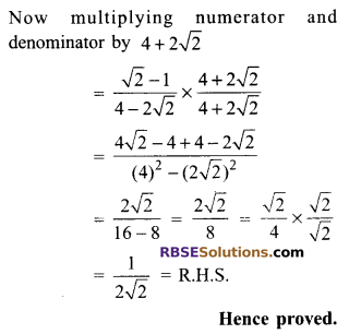 RBSE Solutions for Class 9 Maths Chapter 14 Trigonometric Ratios of Acute Angles Ex 14.2 10