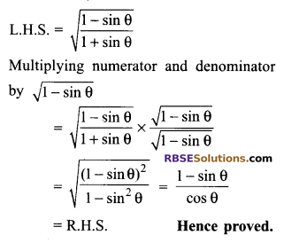 RBSE Solutions for Class 9 Maths Chapter 14 Trigonometric Ratios of Acute Angles Ex 14.3 16