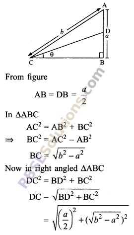 RBSE Solutions for Class 9 Maths Chapter 14 Trigonometric Ratios of Acute Angles Ex 14.1 16