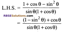RBSE Solutions for Class 9 Maths Chapter 14 Trigonometric Ratios of Acute Angles Additional Questions 35