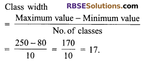 RBSE Solutions for Class 9 Maths Chapter 15 Statistics Additional Questions 6