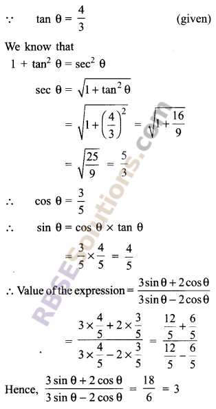 RBSE Solutions for Class 9 Maths Chapter 14 Trigonometric Ratios of Acute Angles Miscellaneous Exercise 21
