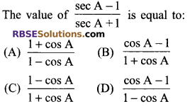 RBSE Solutions for Class 9 Maths Chapter 14 Trigonometric Ratios of Acute Angles Miscellaneous Exercise 5