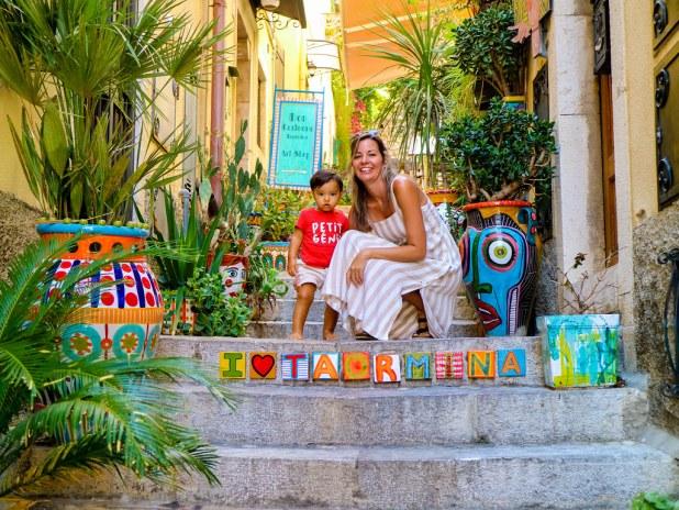 Callejones con azulejos en Taormina