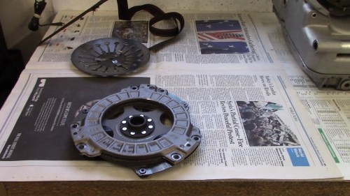 Verifying Clutch Plate Sleeve Is On Front Side of Clutch Front Cover