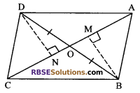 RBSE Solutions for Class 9 Maths Chapter 10 Area of Triangles and Quadrilaterals Additional Questions 25