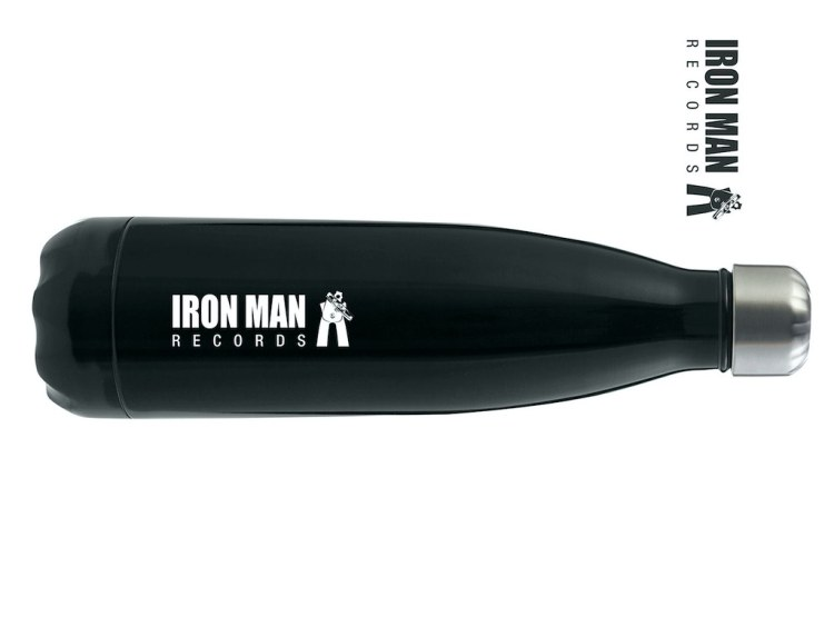 Iron Man Records Water Bottle - 500ml Double Walled Stainless Steel