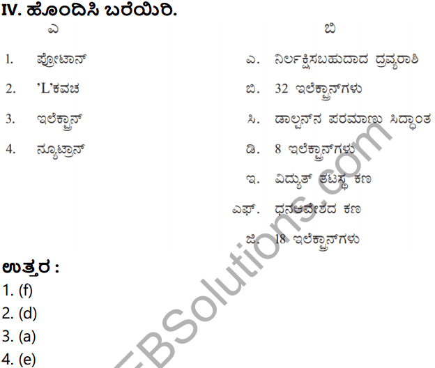 KSEEB Solutions for Class 8 Science Chapter 3 Paramanuvina Rachane in Kannada 13