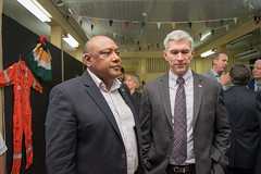 Minister of Natural Resources, Hon. Raphael Trotman and ExxonMobil Country Manager, Rod Henson.