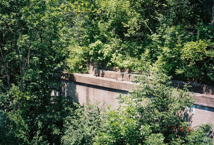 Former alignment/Interurban bridge abutment