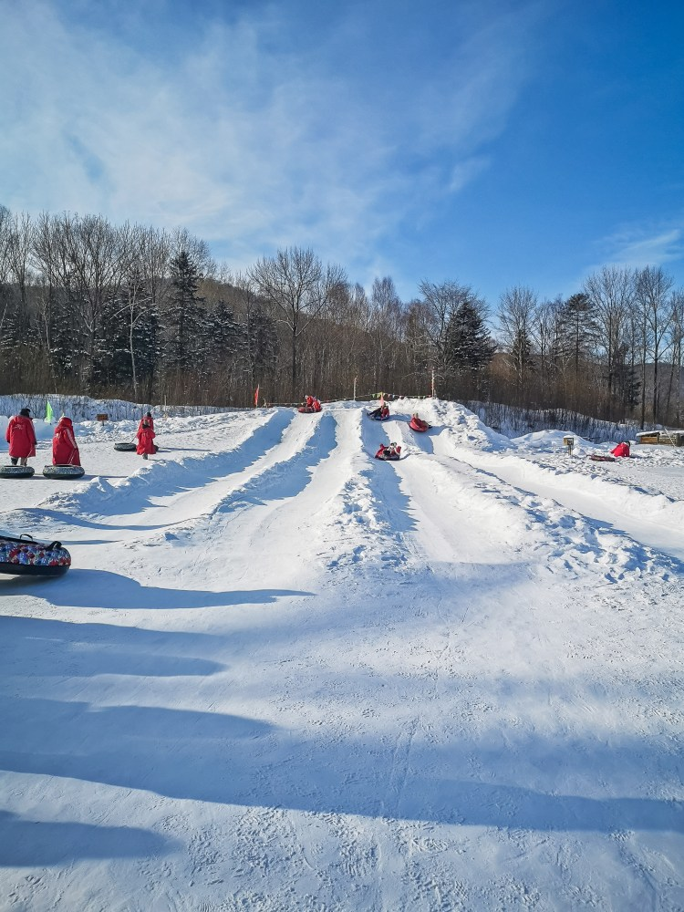 Snow tubing in Yabuli
