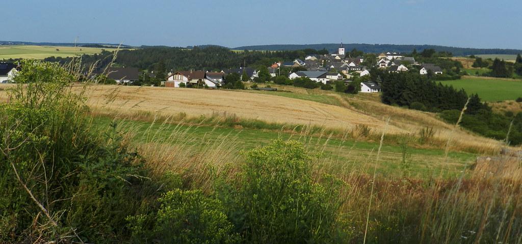 Ortsansicht sendero de St. Goar a Dorscheid Valle del Rin Alemania