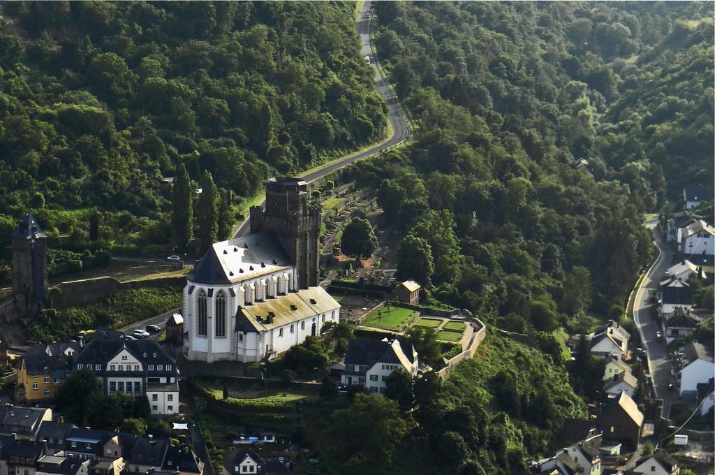 vista de Oberwesel e iglesia St Martin Valle del Rin Alemania 01