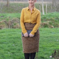 Outfit of the week: Gold skirt