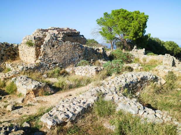 Restos de la antigua fortaleza de la Rocca en Cefalu
