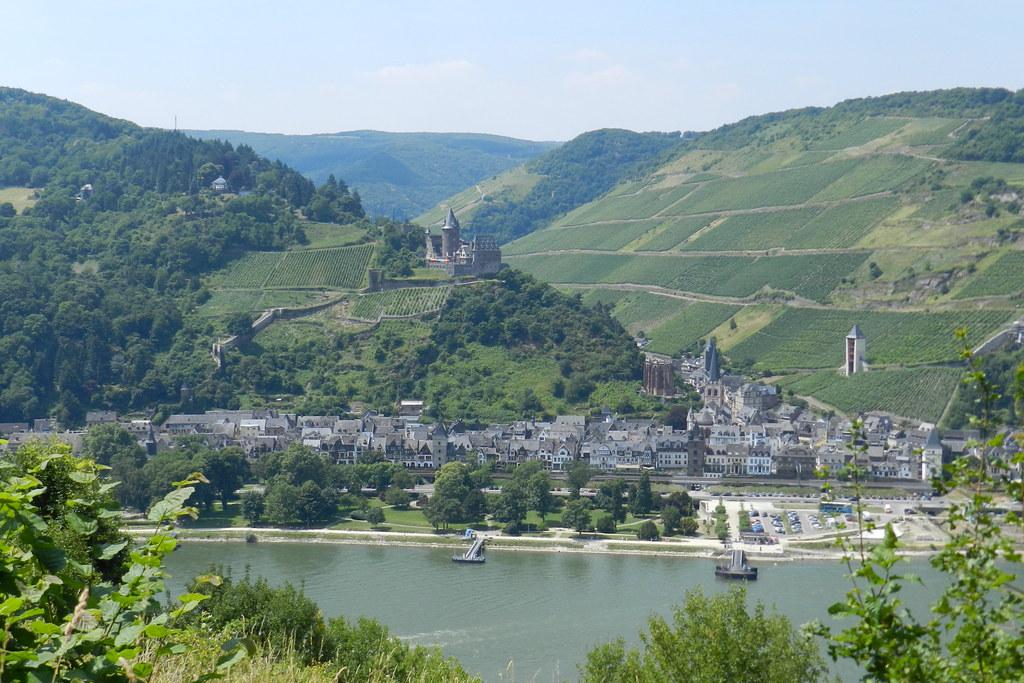 vista de Bacharach Castillo Stahleck burg Valle del Rin Alemania 03