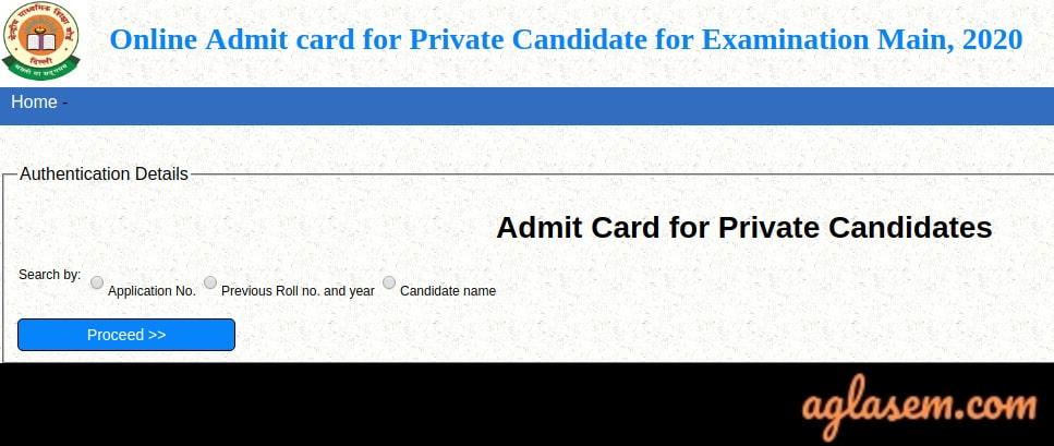 CBSE Class 10 Admit Card 2020