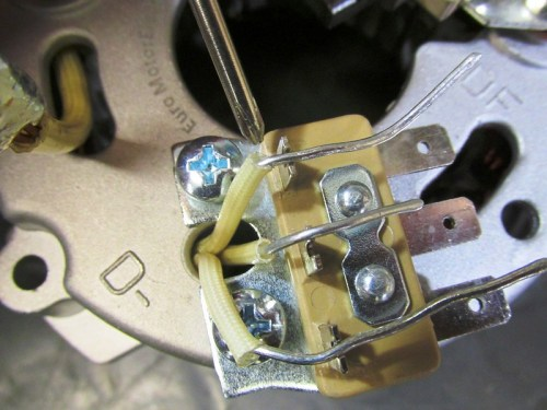 Stator 3-Phase Wires Fit Into Slots of Solder Pad-Move Insulation So It Is Close To The Edge Of The Pad