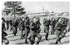 Fort Jackson recruits at boot camp: 1965 ca.