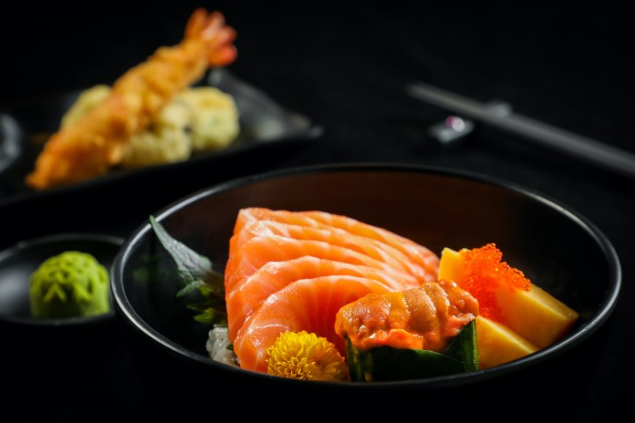 forte - Japanese Sea Urchin Salmon Sashimi Rice 海膽三文魚刺身飯