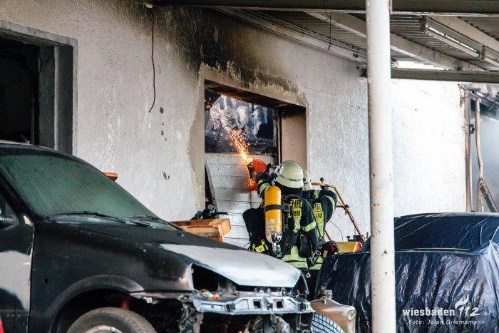 Großbrand einer KFZ-Werkstatt Geisenheim 23.01.2020