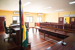 Inside on the Courtrooms of the new Court