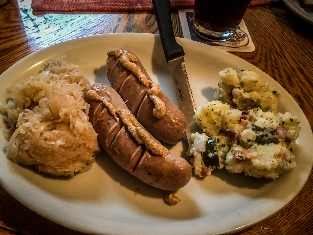 Sausage platter at Berliner Kindl in Black Mountain""