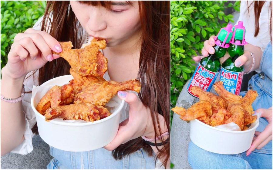 張家炸雞專賣所_台中南區:酥脆多汁白色炸雞店!迷你炸雞桶餐只要120元!配懷舊彈珠汽水剛剛好!