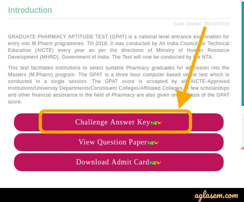 Challenging GPAT 2021 answer key